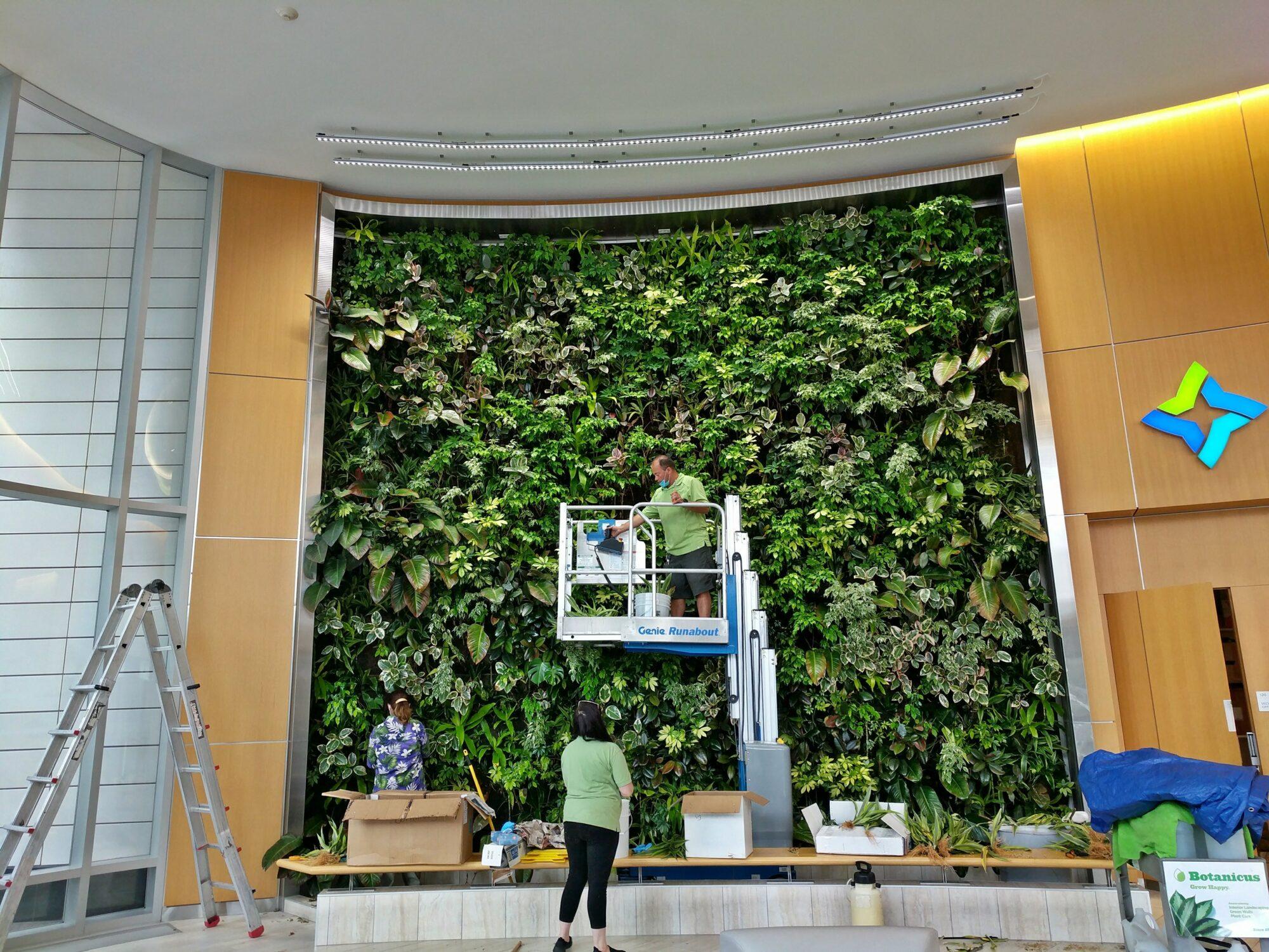 Botanicus Green Wall at Delaware North lobby