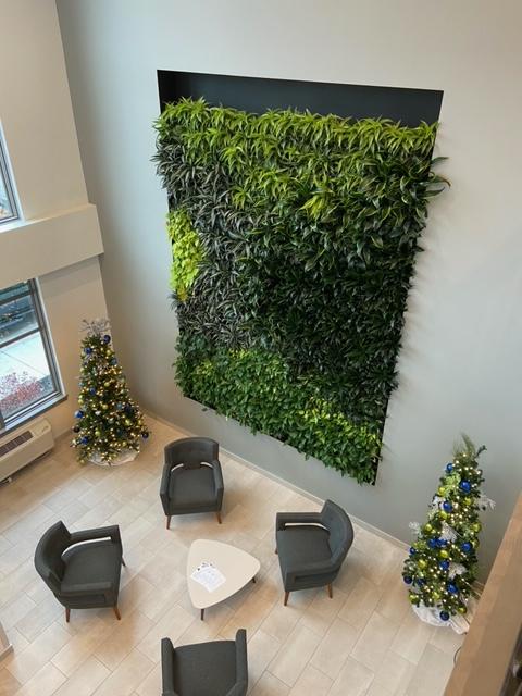 Vertical Plant Wall Lobby